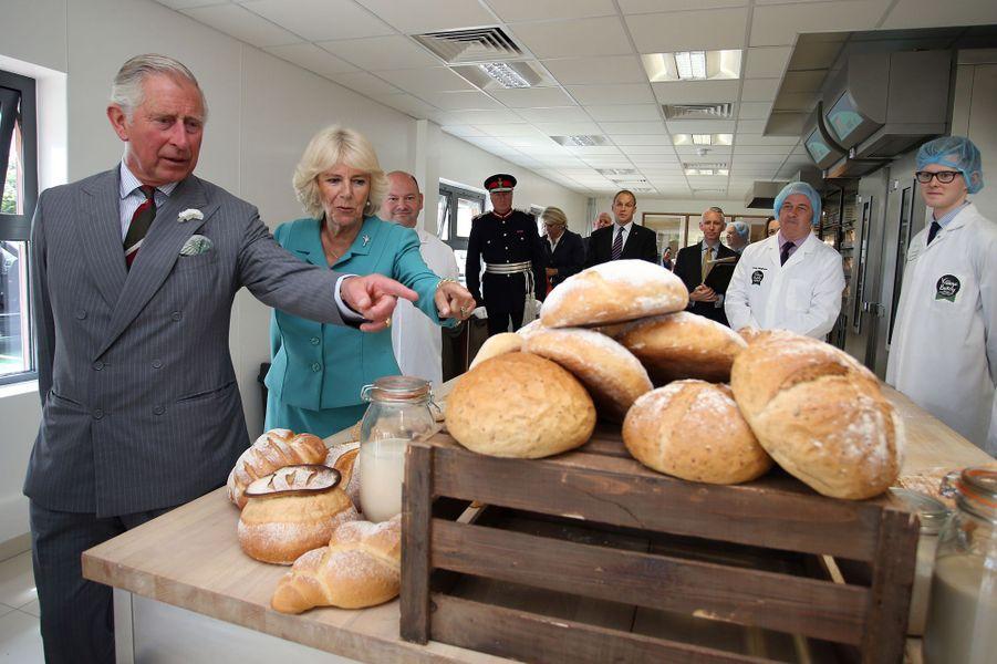 Le prince Charles et Camilla à Wrexham, le 7 juillet 2015
