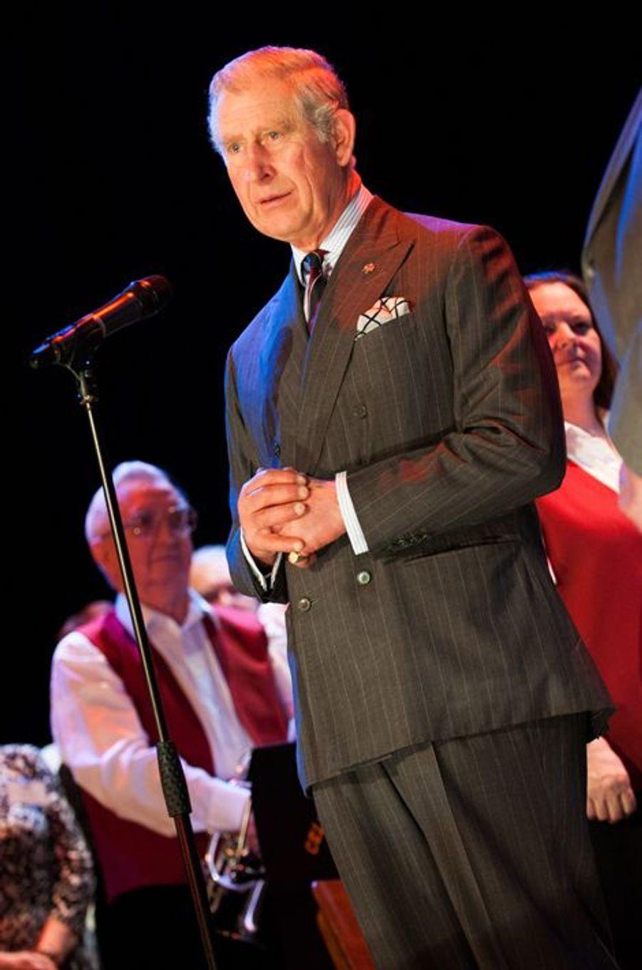 Le prince Charles inaugure la restauration du bâtiment du Newbridge Memorial Hall, le 12 décembre 2014