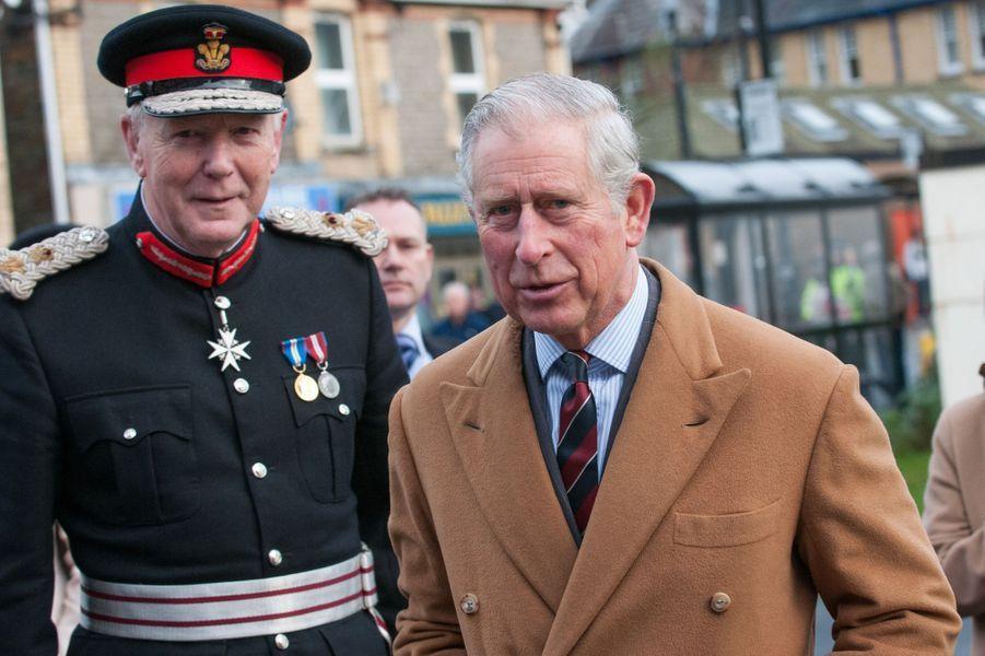 Le prince Charles inaugure la restauration du Newbridge Memorial Hall, le 12 décembre 2014