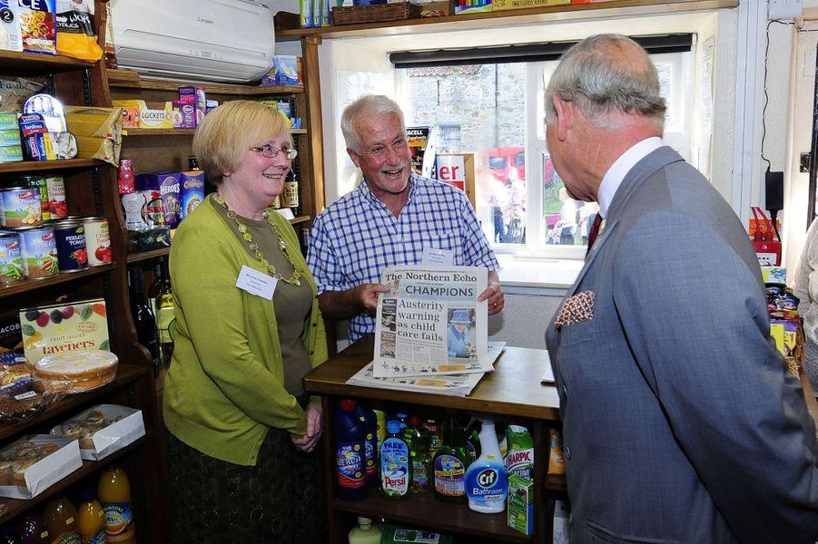 Le prince Charles à Hudswell près de Richmond, le 10 septembre 2015
