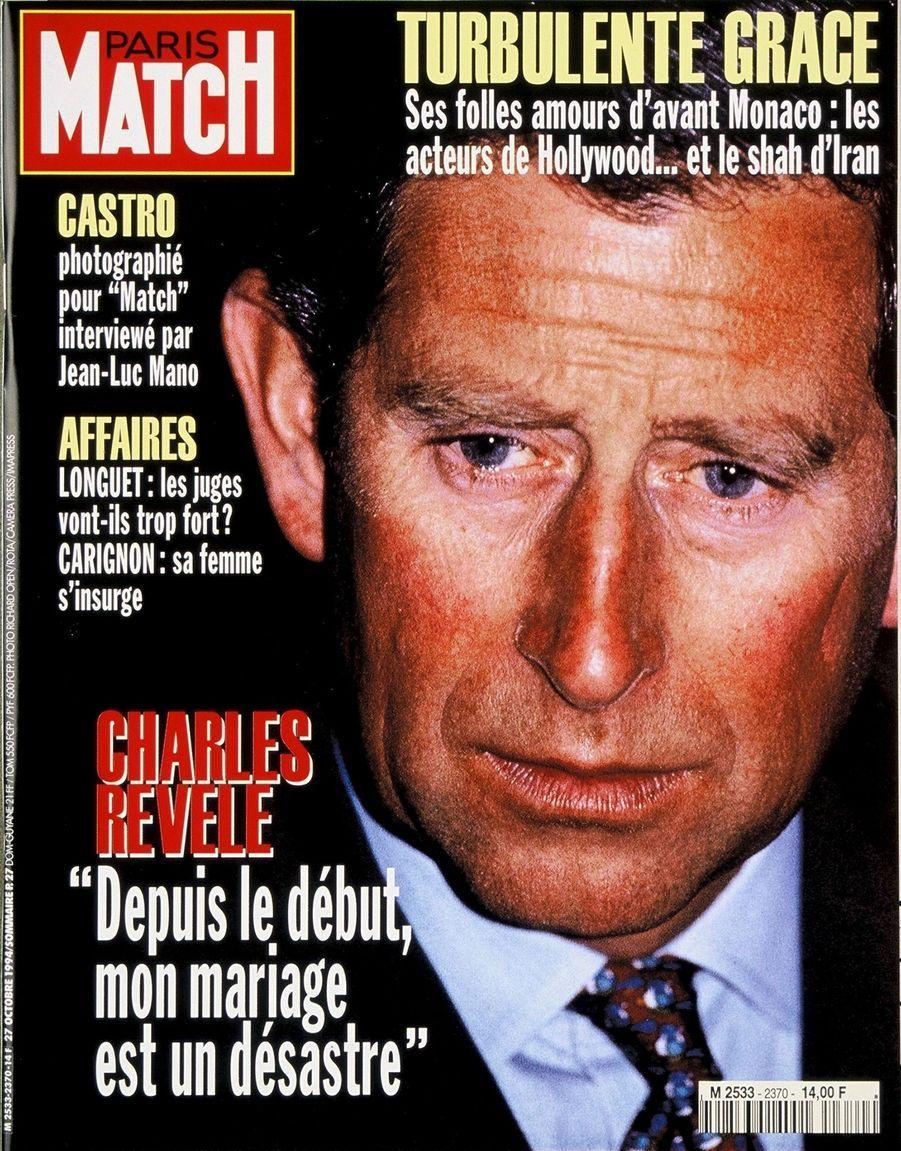 Le prince Charles en couverture du Paris Match n°2370, daté du 27 octobre 1994.