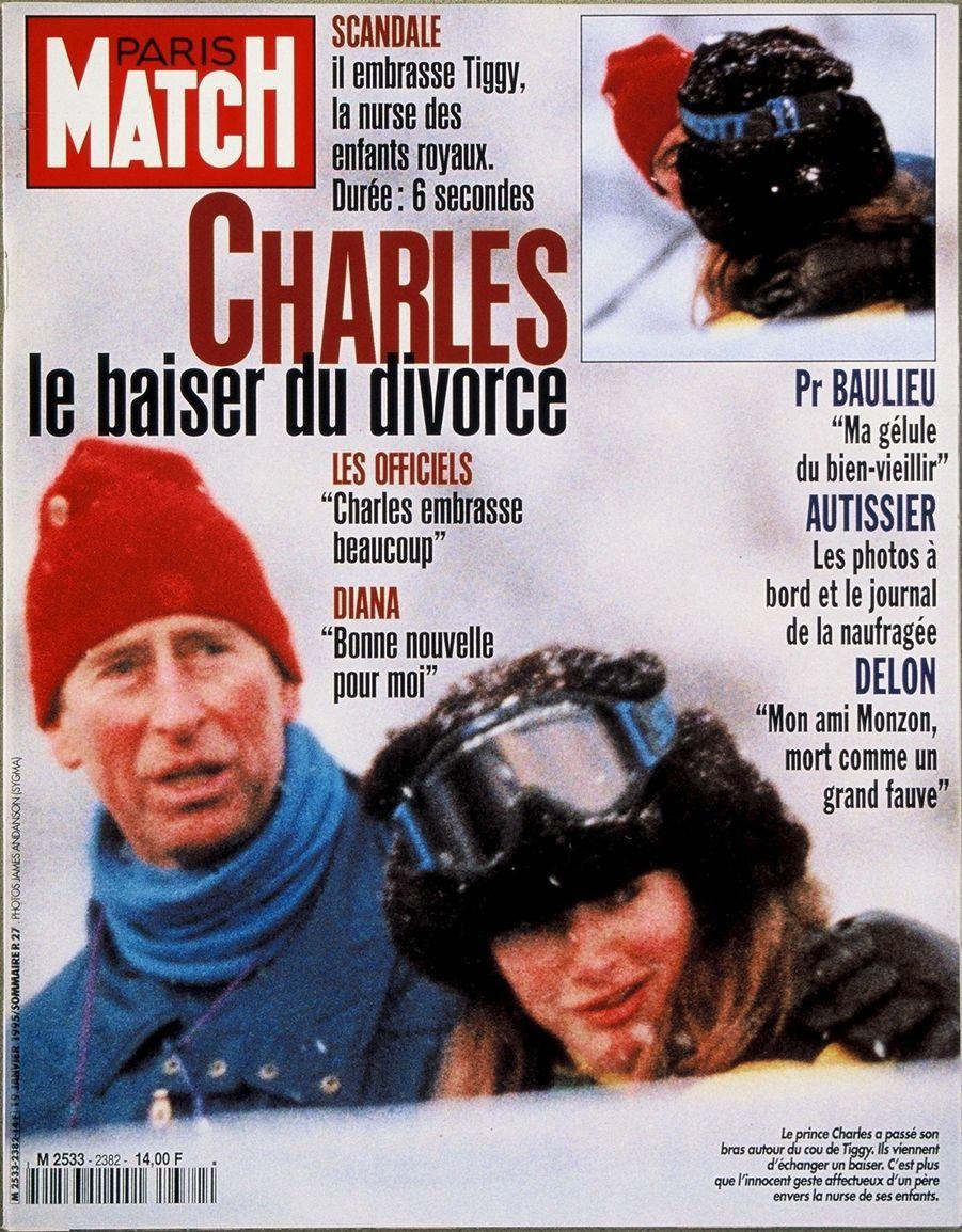 Le prince Charles en couverture du Paris Match n°2382, daté du 19 janvier 1995.