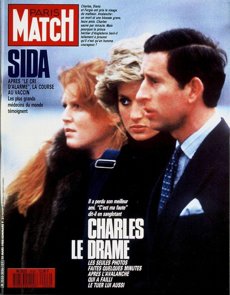 Le prince Charles en couverture du Paris Match n°2026, daté du 25 mars 1988.