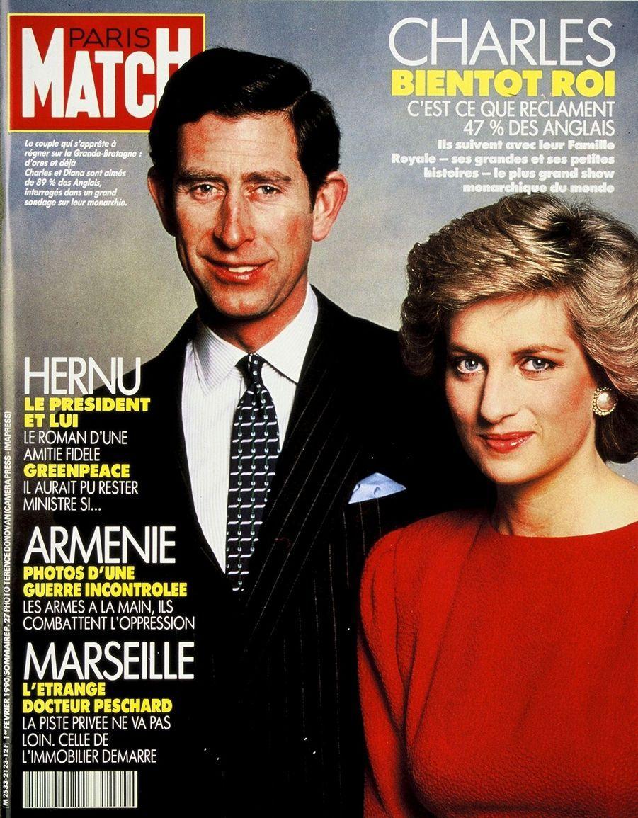 Le prince Charles en couverture du Paris Match n°2123, daté du 1er février 1990.