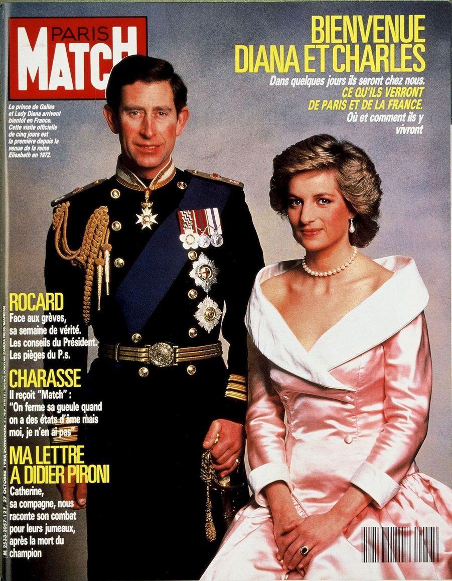 Le prince Charles en couverture du Paris Match n°2057, daté du 27 octobre 1988.