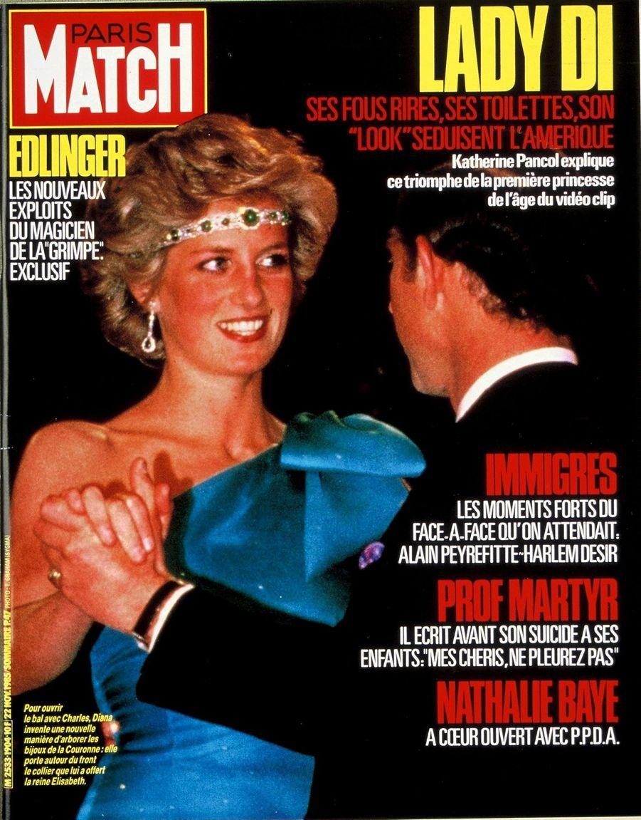 Le prince Charles en couverture du Paris Match n°1904, daté du 22 novembre 1985.