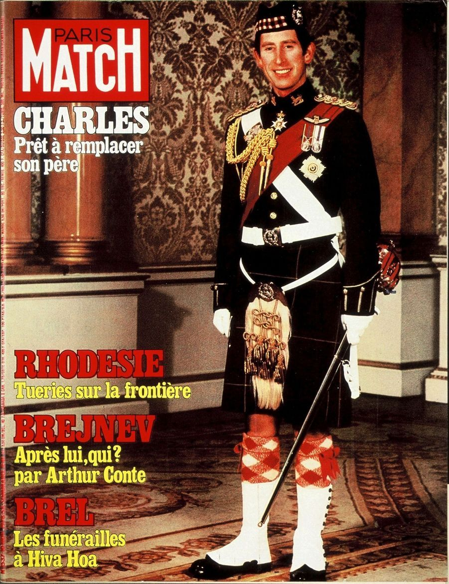 Le prince Charles en couverture du Paris Match n°1537, daté du 10 novembre 1978.