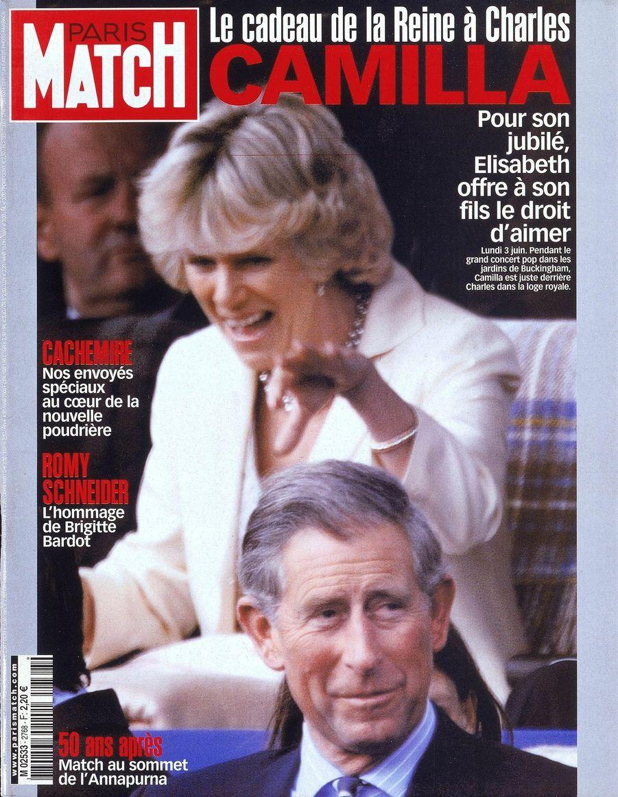 Le prince Charles en couverture du Paris Match n°2768, daté du 13 juin 2002.
