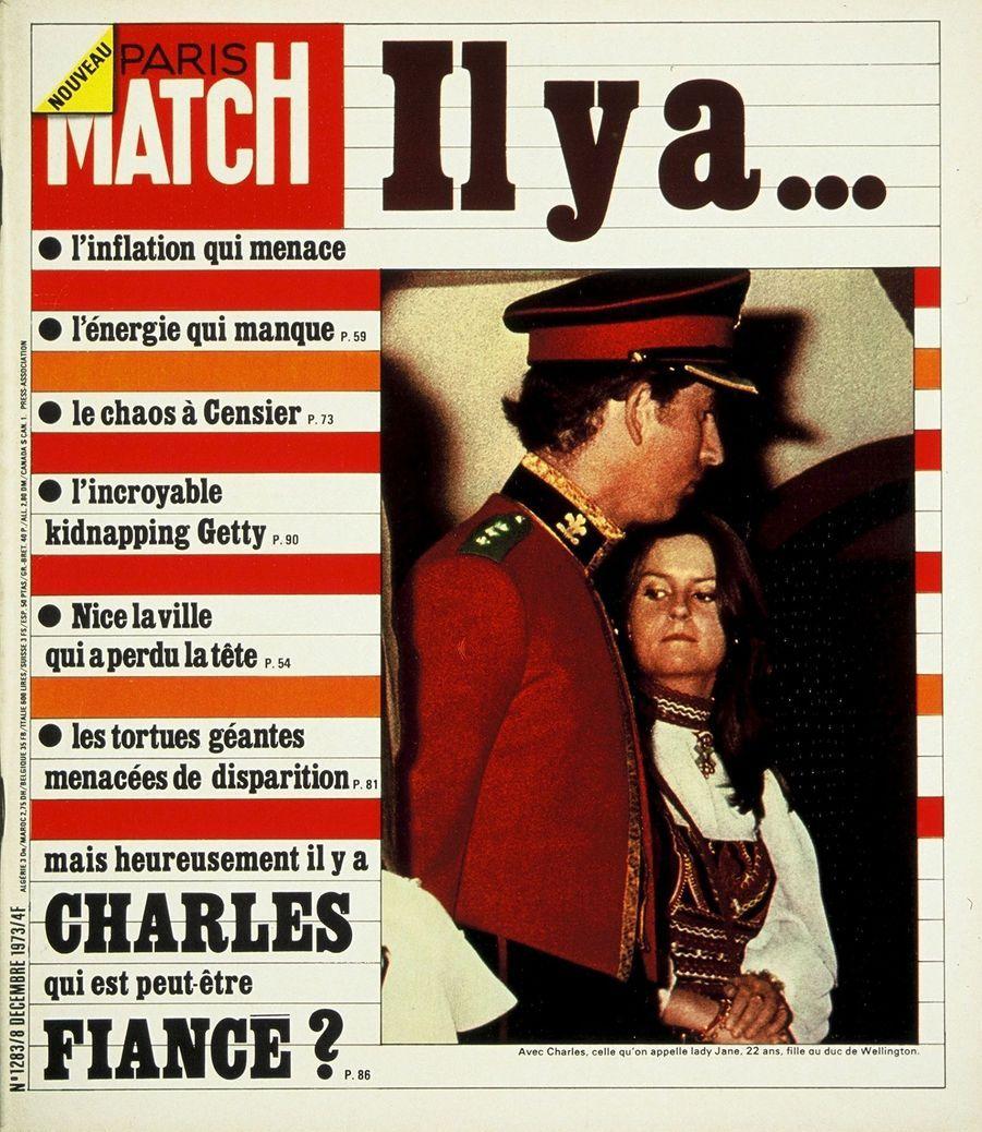 Le prince Charles en couverture du Paris Match n°1283, daté du 8 décembre 1973.