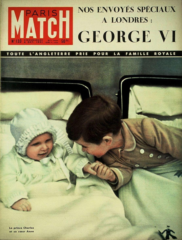 Le prince Charles en couverture du Paris Match n°133, daté du 6 octobre 1951.
