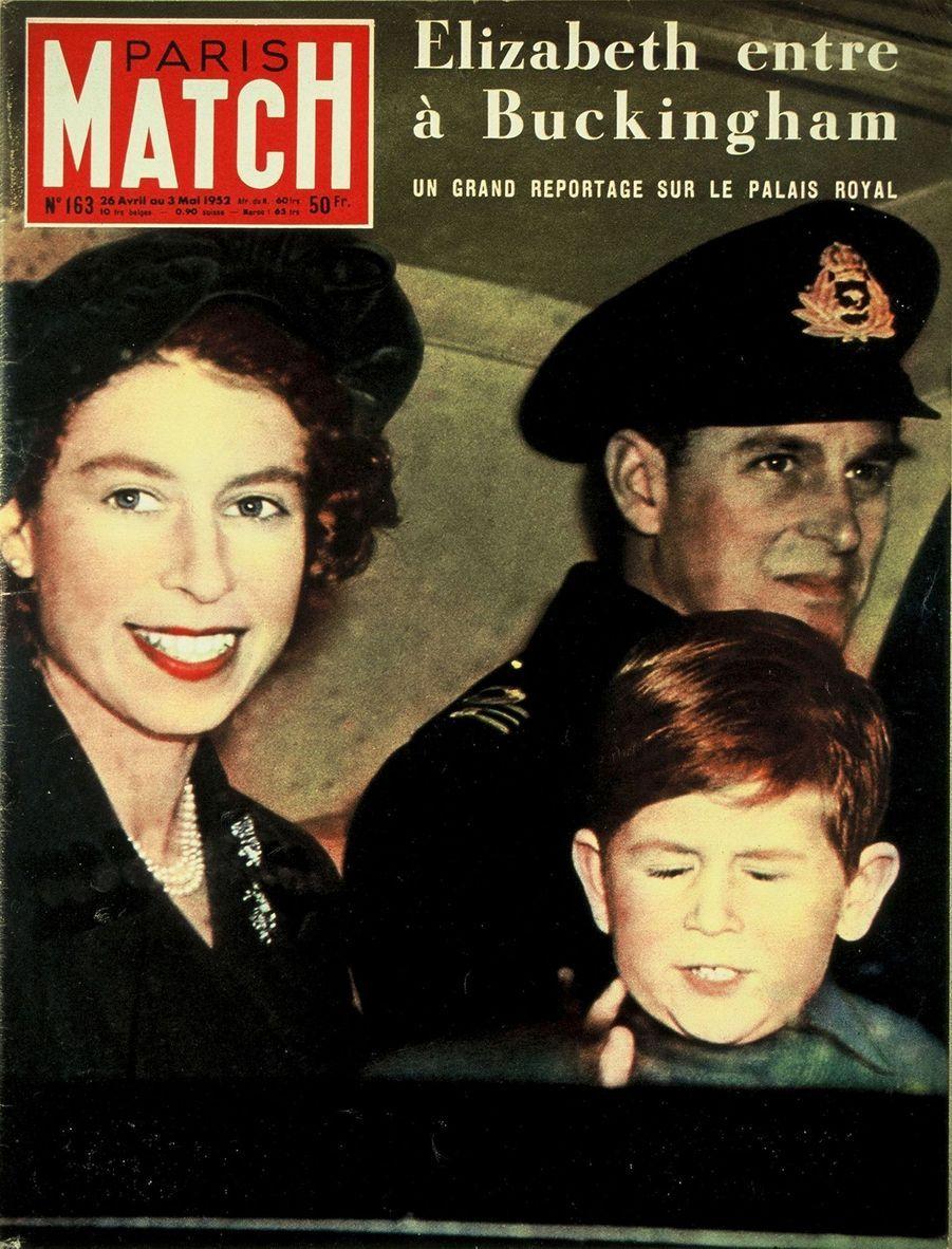 Le prince Charles en couverture du Paris Match n°163, daté du 26 avril 1952.