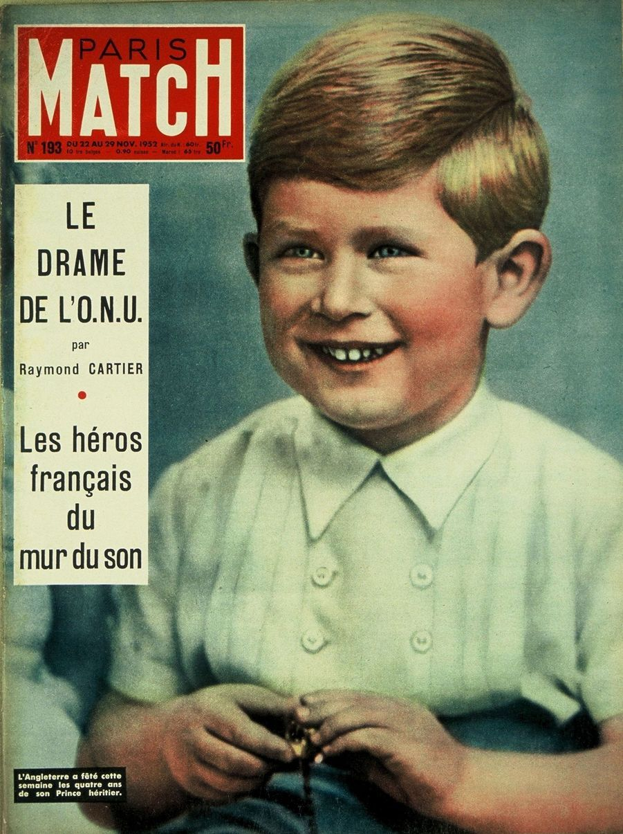 Le prince Charles en couverture du Paris Match n°193, daté du 22 novembre 1952.