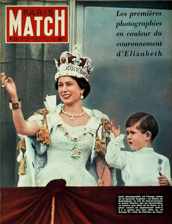 Le prince Charles en couverture du Paris Match n°221, daté du 13 juin 1953.