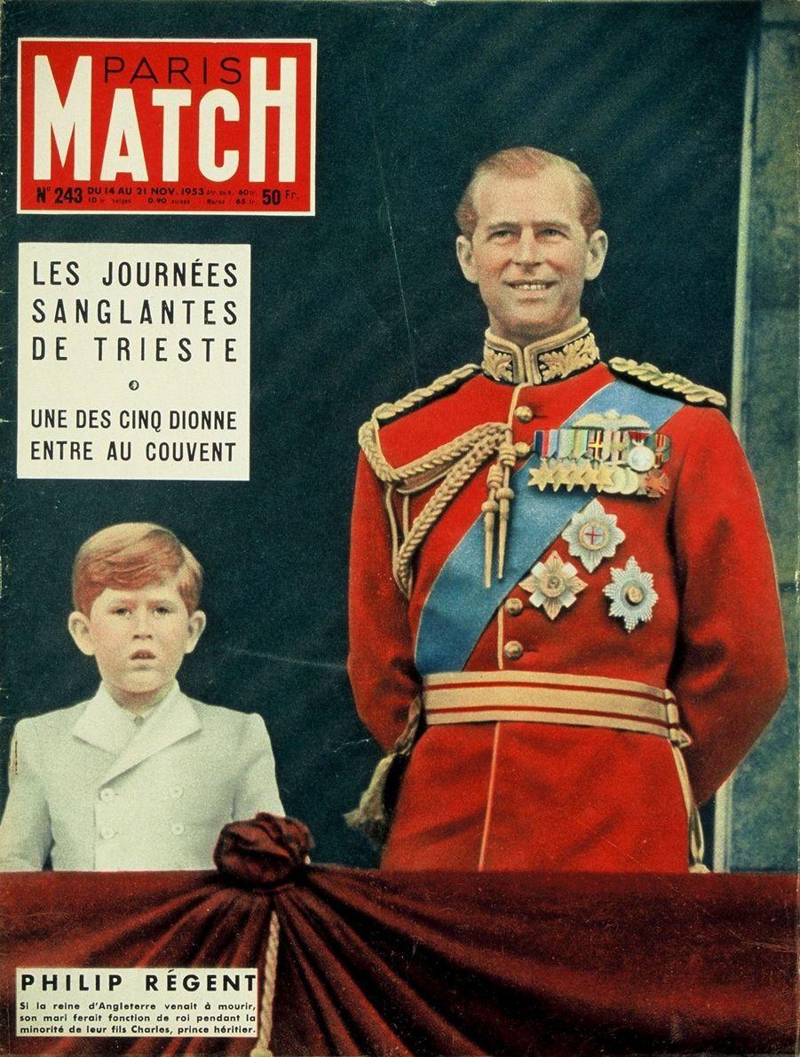Le prince Charles en couverture du Paris Match n°243, daté du 14 novembre 1953.