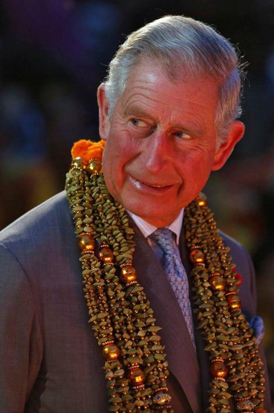 Le Prince Charles et Camilla bénis au Gange