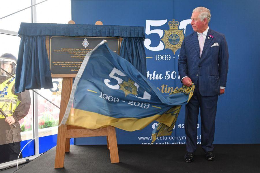Le prince Charles à Bridgend, le 2 juillet 2019