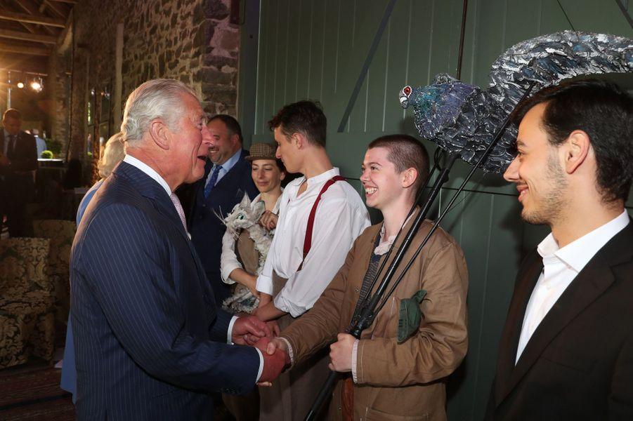Le prince Charles à Llandovery, le 2 juillet 2019