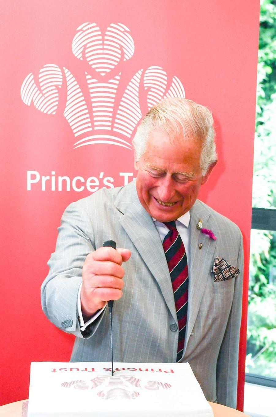 Le prince Charles à Nantgarw, le 1er juillet 2019