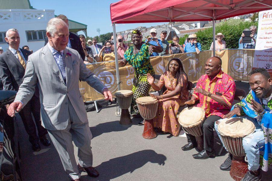 Le prince Charles à Swansea, le 3 juillet 2019