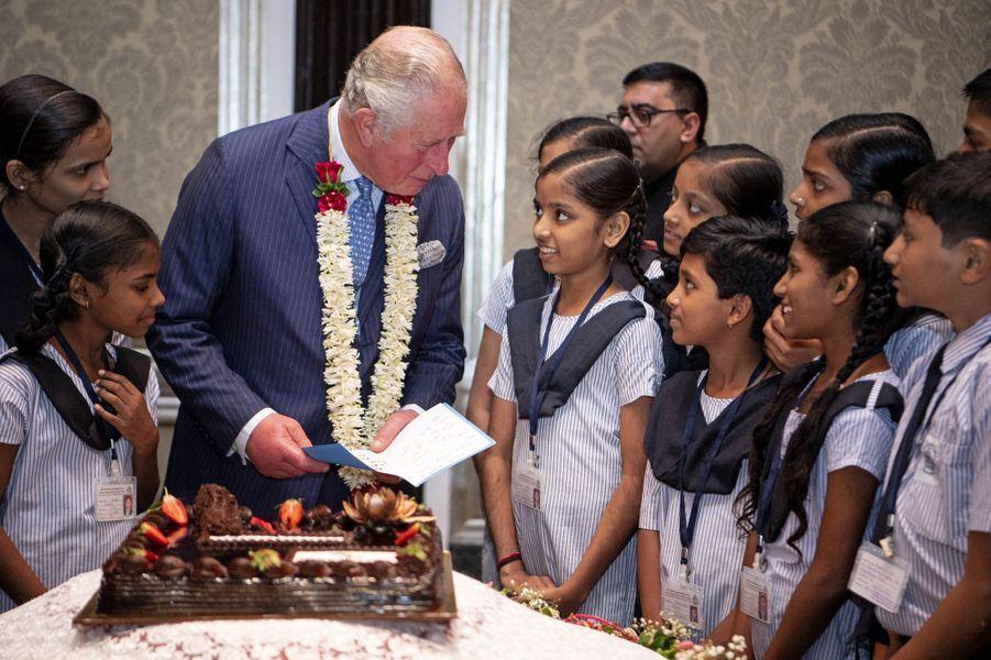 Le prince Charles fête ses 71 ans à Bombay, le 14 novembre 2019