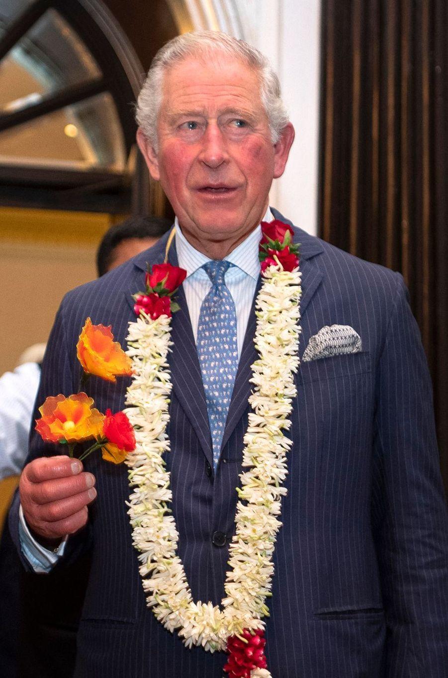 Le prince Charles le jour de ses 71 ans à Mumbay (Bombay), le 14 novembre 2019