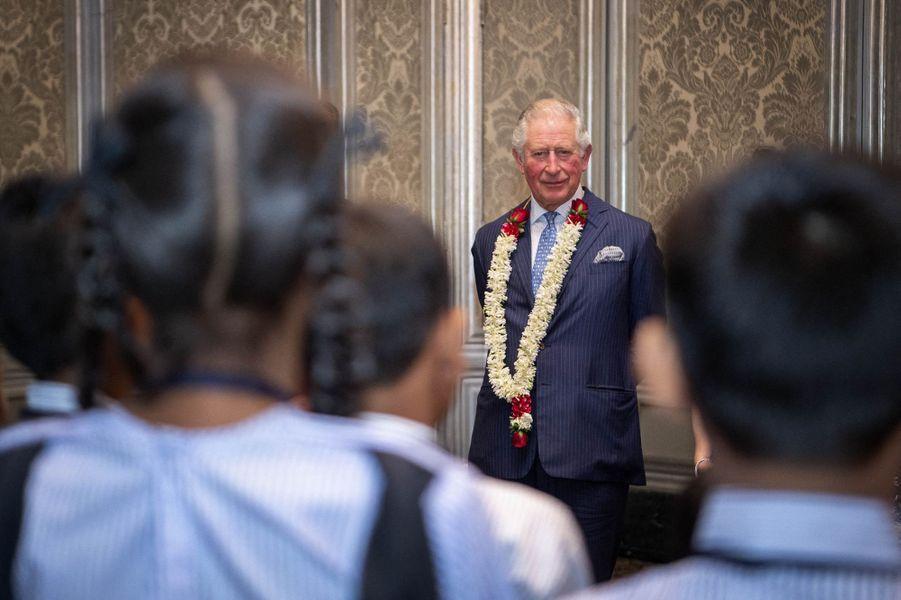 Le prince Charles à Mumbay (Bombay), le 14 novembre 2019