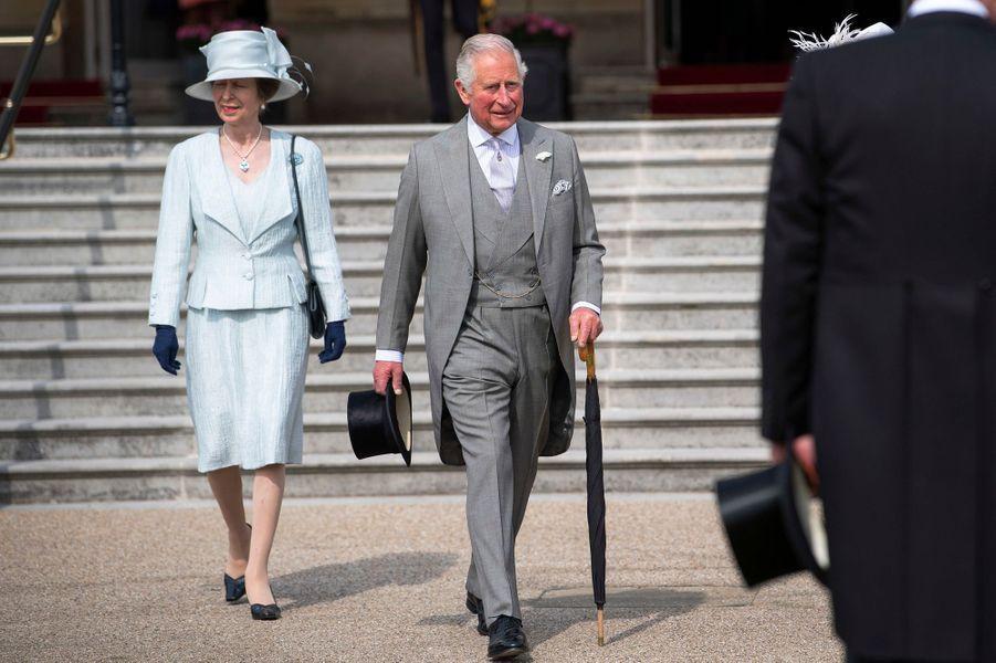 La princesse Anne et le prince Charles à Londres, le 15 mai 2019