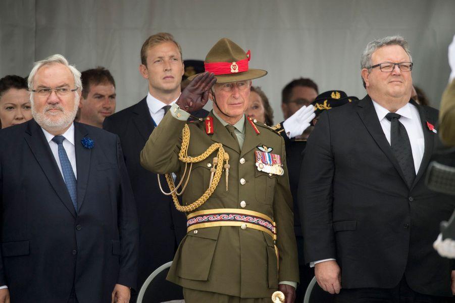 Le prince Charles à Longueval en France, le 15 septembre 2016