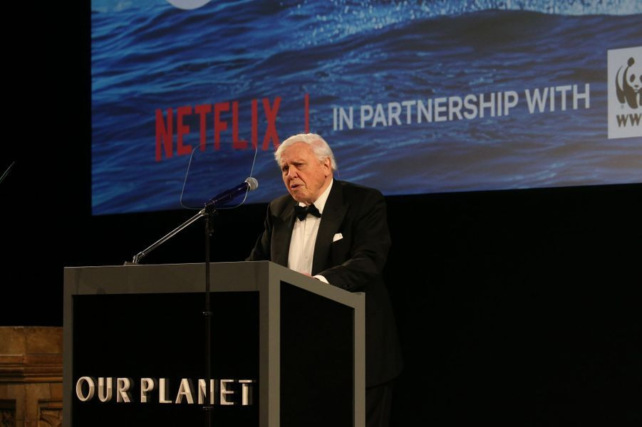 Sir David Attenborough à Londres, le 4 avril 2019