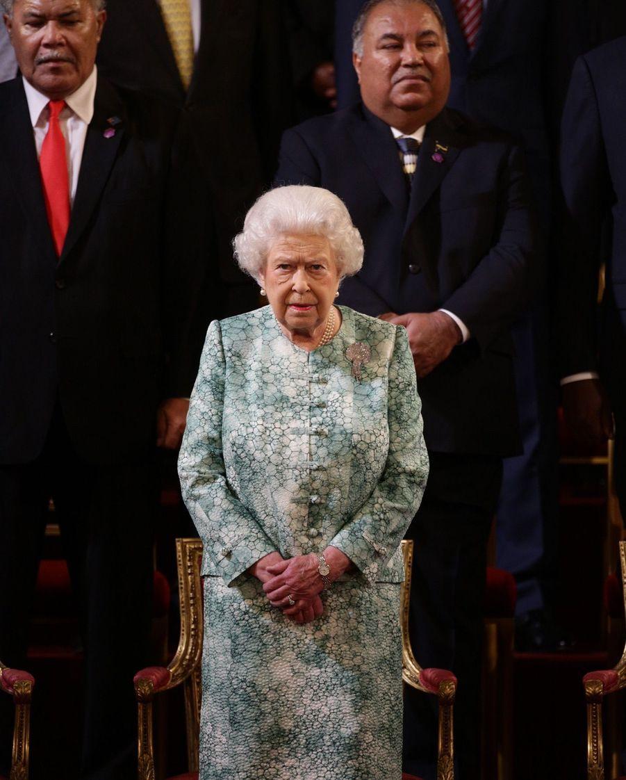 La Reine Ouvre En Famille Le Sommet Du Commonwealth Au Château De Windsor, Jeudi 19 Avril 10