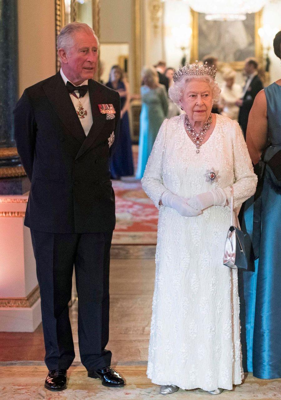 La Reine Ouvre En Famille Le Sommet Du Commonwealth Au Château De Windsor, Jeudi 19 Avril 19