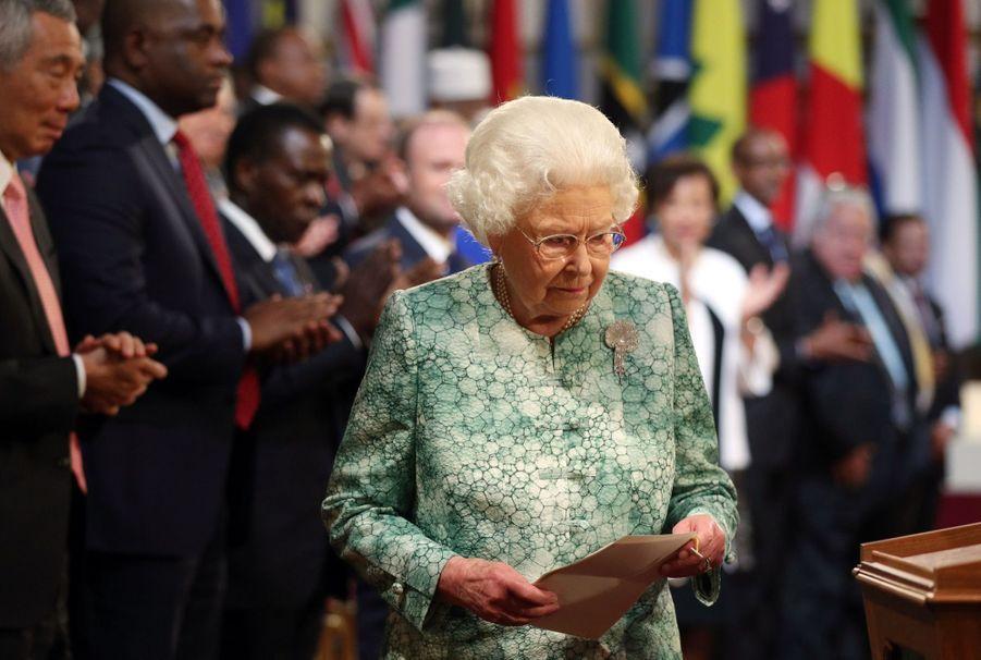 La Reine Ouvre En Famille Le Sommet Du Commonwealth Au Château De Windsor, Jeudi 19 Avril 6