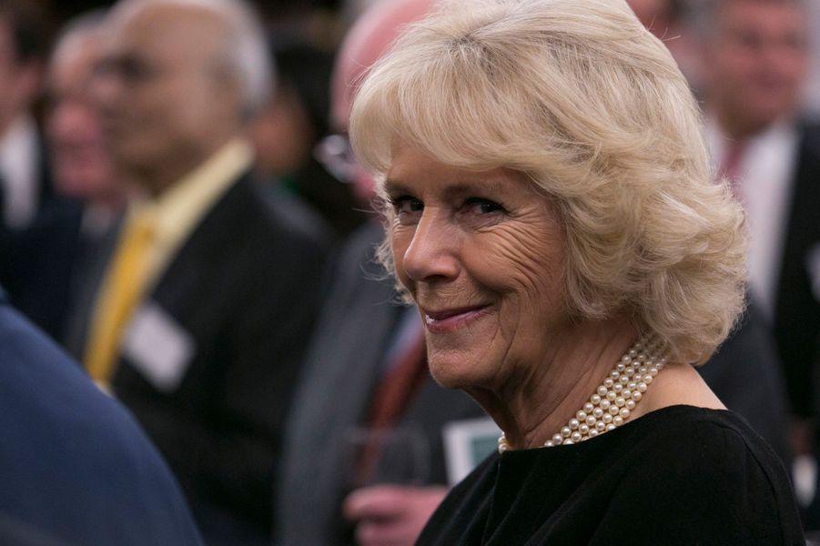 La duchesse de Cornouailles Camilla à la Lambeth Palace Library à Londres, le 24 février 2016