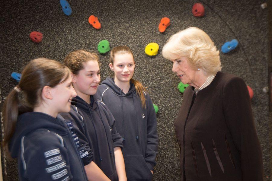 La duchesse de Cornouailles Camilla à la Queens Gate School à Londres, le 23 février 2016