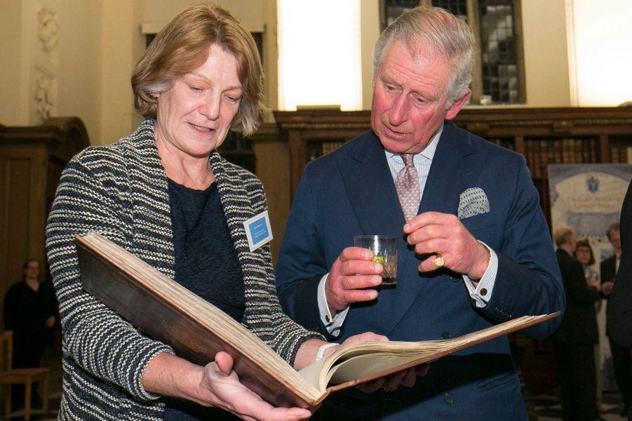 Le prince Charles à la Lambeth Palace Library à Londres, le 24 février 2016