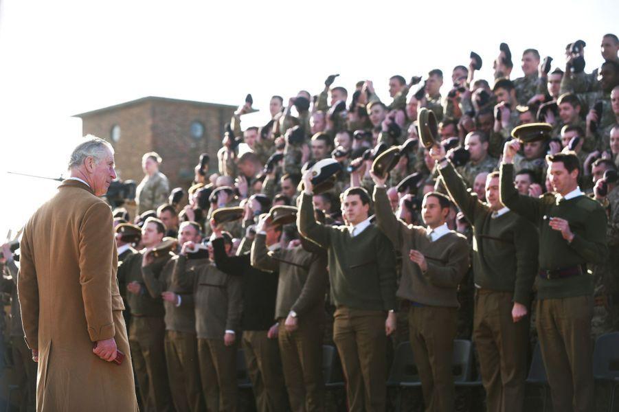 Le prince Charles au 1er Queen's Dragoon Guard à Dereham, le 22 février 2016