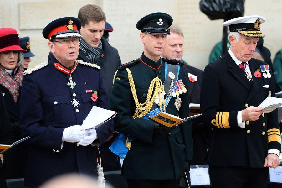 Le prince Edward, comte de Wessex au National Memorial Arboretum à Alrewas, le 11 novembre 2014
