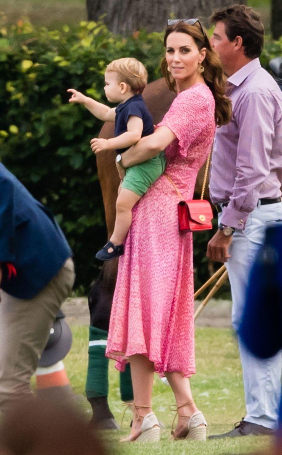 Kate Middleton et le prince Louis à Wokingham, le 10 juillet 2019