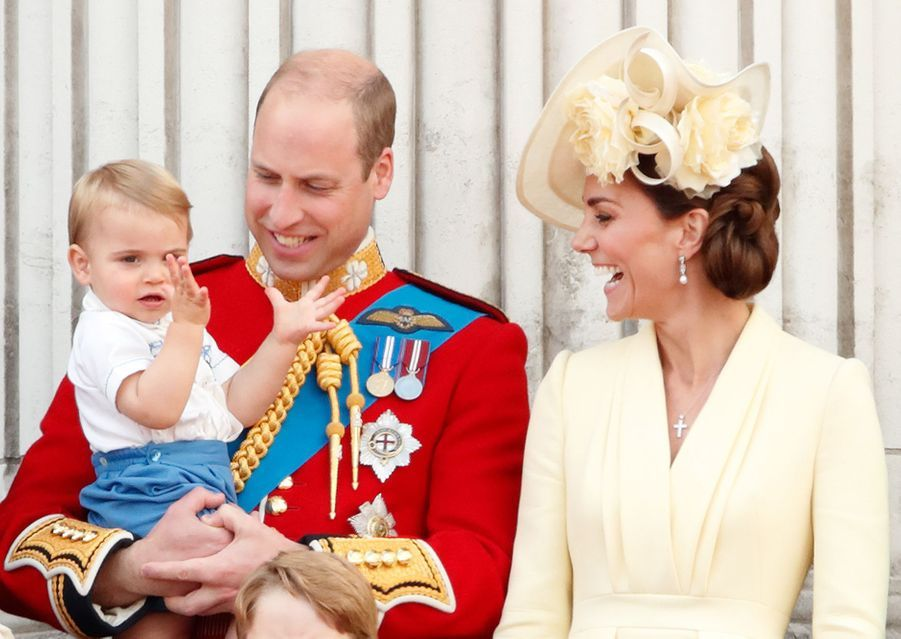 Kate Middleton, le prince William et leur fils Louis à Londres, le 8 juin 2019