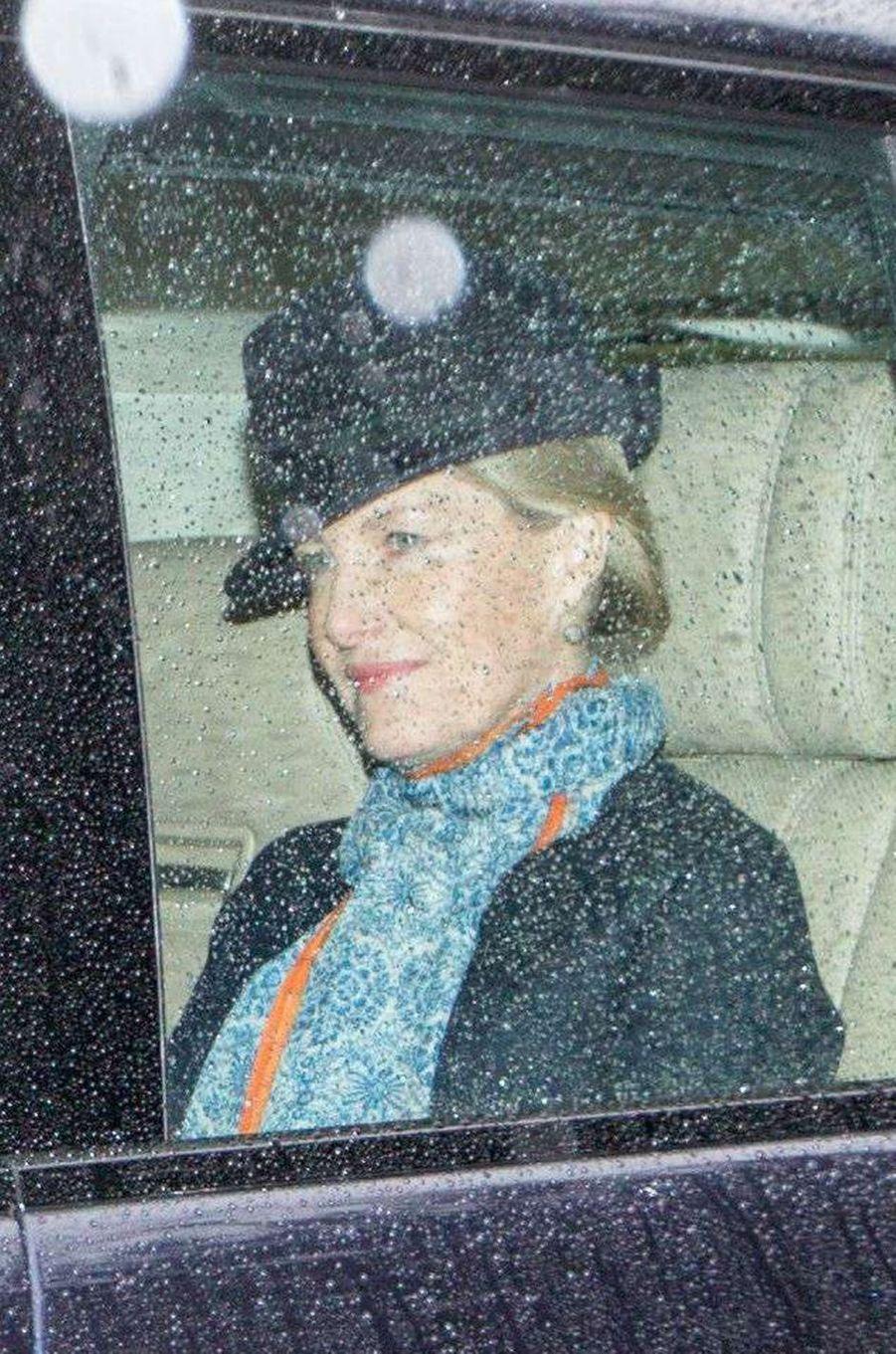 La comtesse Sophie de Wessex à Sandringham, le 1er janvier 2017