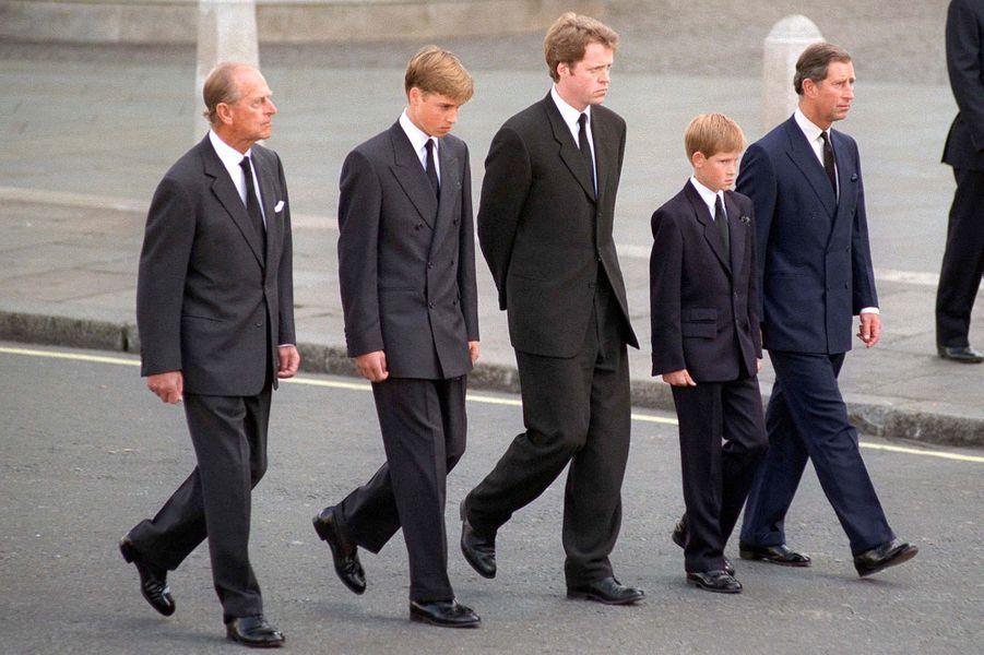 Le prince Philip aux obsèques de Lady Di, le 6 septembre 1997