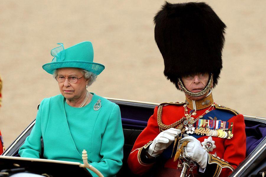 Le prince Philip avec la reine Elizabeth II, le 14 juin 2008