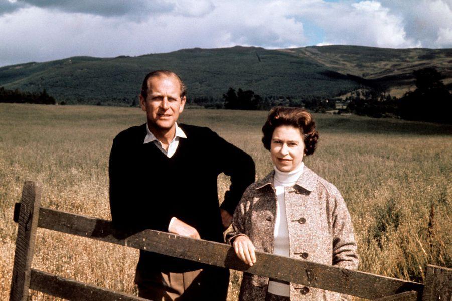 Le prince Philip avec la reine Elizabeth II, le 1er septembre 1972