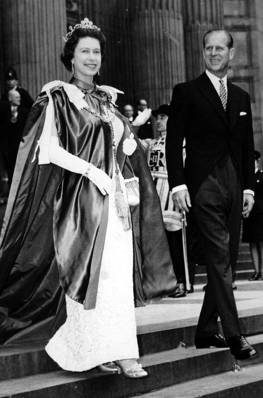 Le prince Philip avec la reine Elizabeth II, le 24 juillet 1968