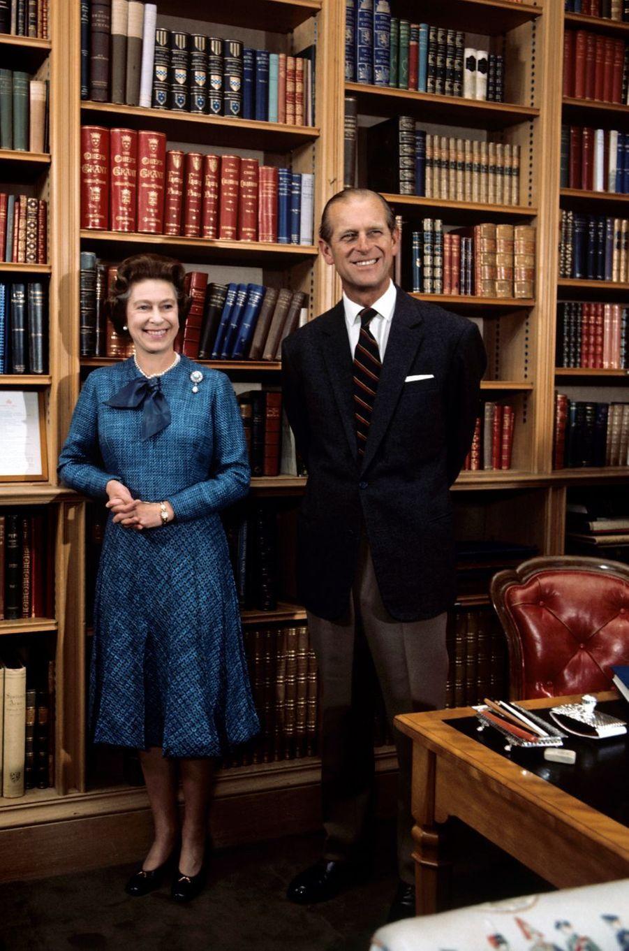 Le prince Philip avec la reine Elizabeth II, le 26 septembre 1976