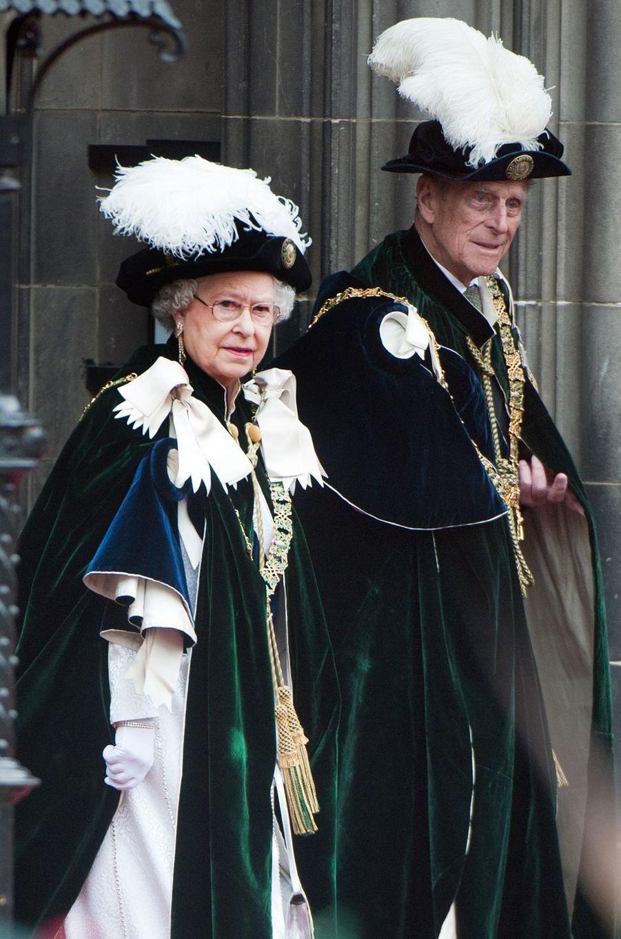 Le prince Philip avec la reine Elizabeth II, le 5 juillet 2012