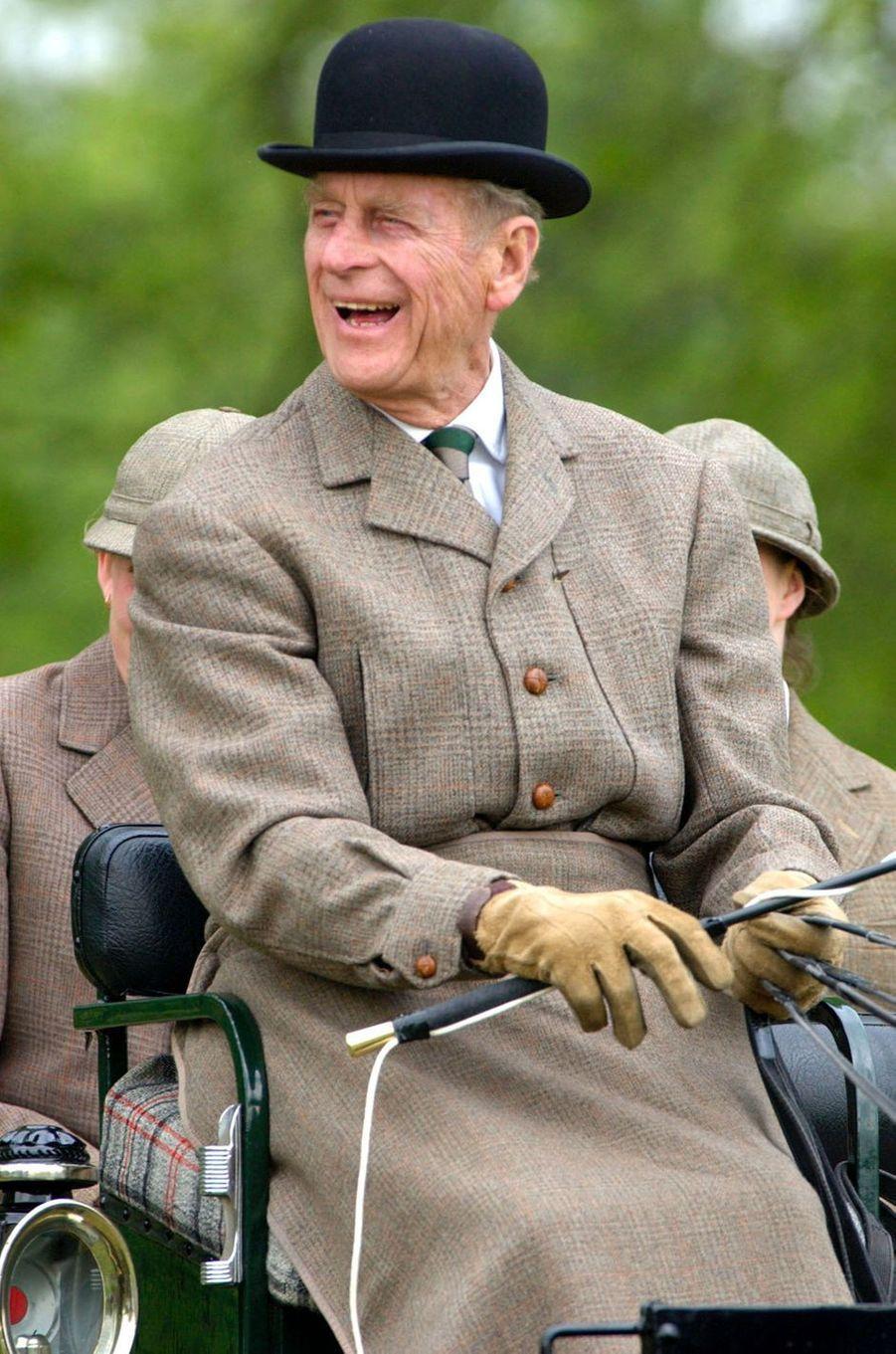 Le prince Philip, le 17 mai 2002