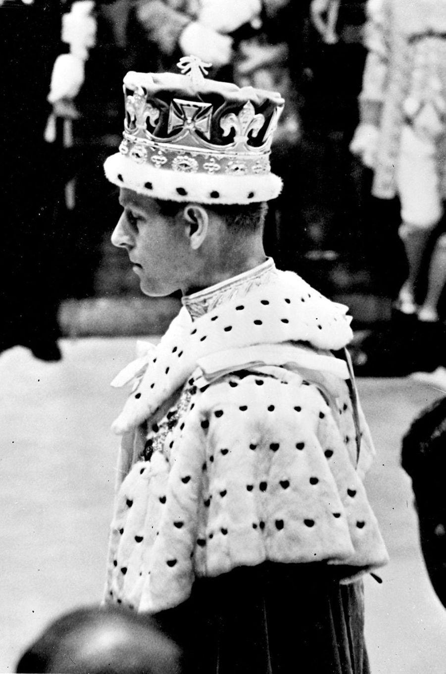Le prince Philip, le 2 juin 1953 lors du sacre de la reine Elizabeth II