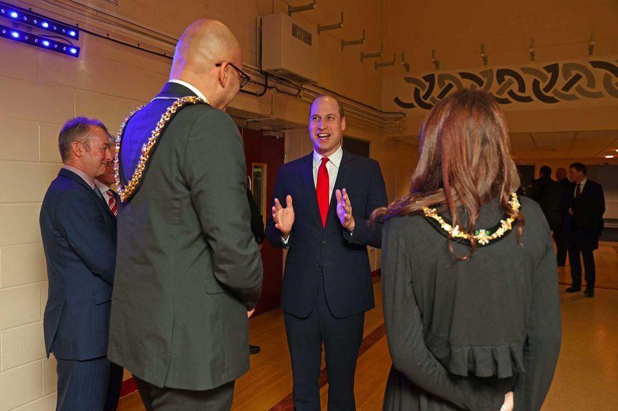Le prince William à Cardiff, au Pays de Galles, le 22 février 2020.