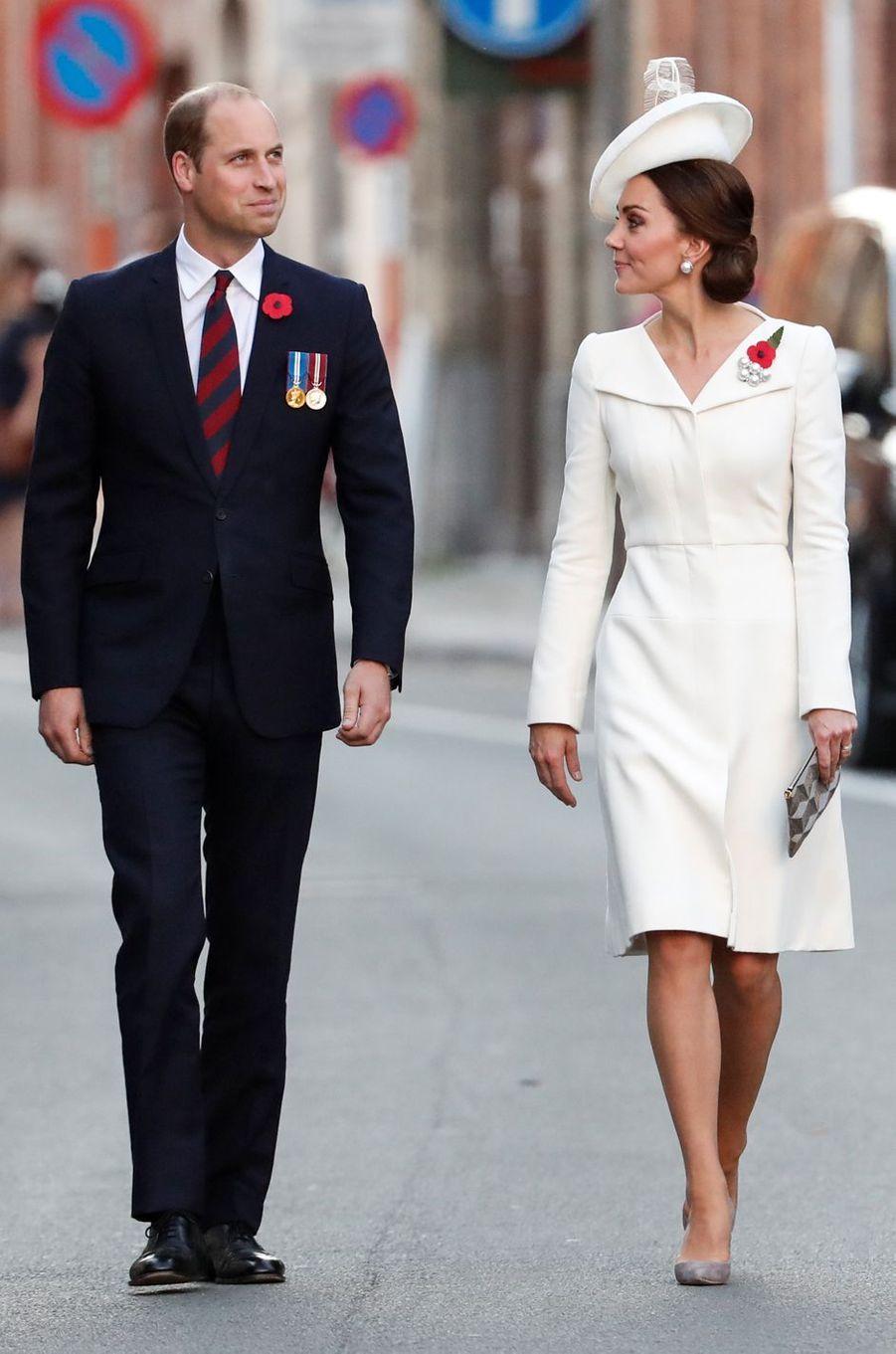 La duchesse Catherine de Cambridge à Ypres le 30 juillet 2017